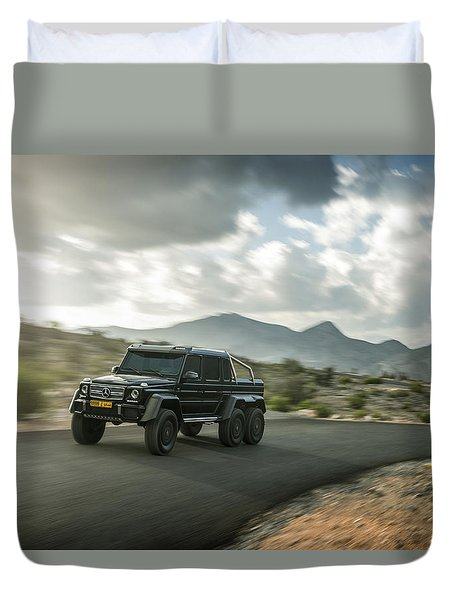 Mercedes G63 6x6 In Oman Duvet Cover