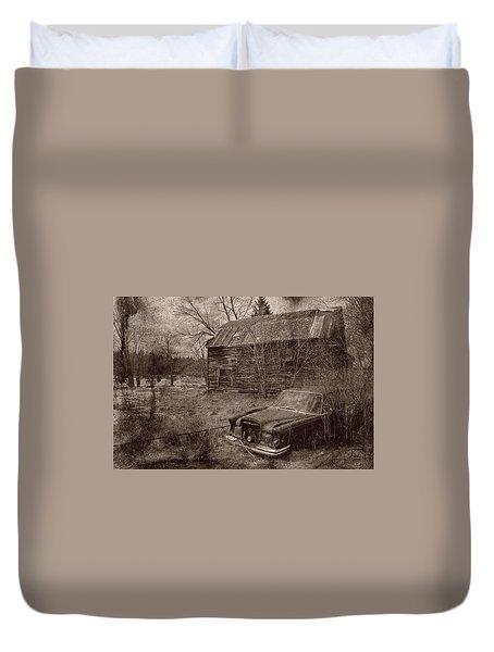 Duvet Cover featuring the photograph Mercedes Landsape by Jim Vance