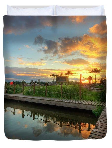 Duvet Cover featuring the photograph Mercia Marina 13.0 by Yhun Suarez