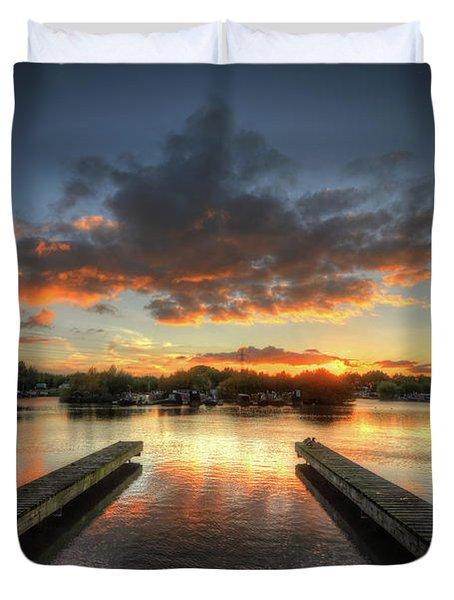 Duvet Cover featuring the photograph Mercia Marina 19.0 by Yhun Suarez