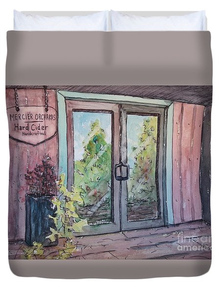 Mercier Orchards' Cider Duvet Cover