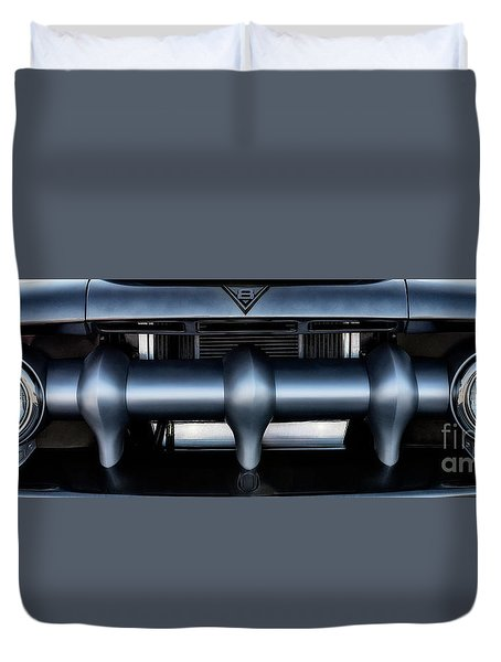Duvet Cover featuring the photograph Mercury V8 Pickup by Brad Allen Fine Art