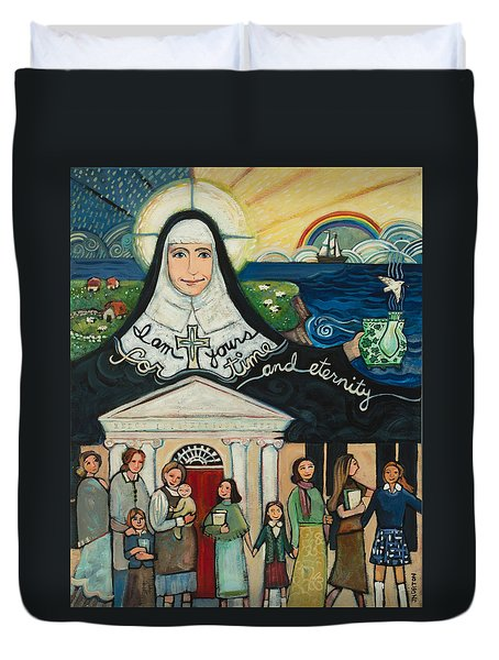 Mercy Foundress Catherine Mcauley Duvet Cover
