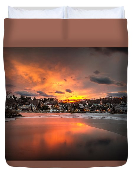 Meredith Sunset Duvet Cover by Robert Clifford