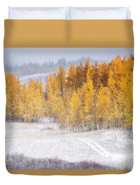 Merging Seasons Duvet Cover