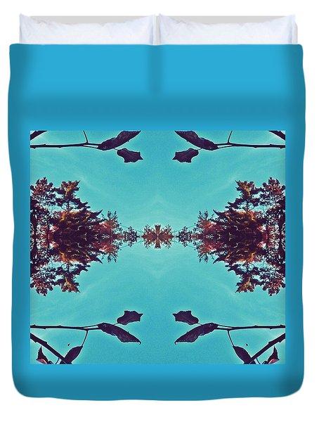 Merging - Turquoise Duvet Cover