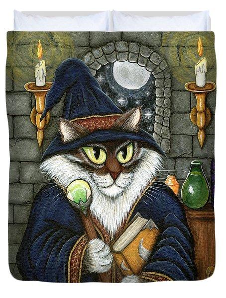 Merlin The Magician Cat Duvet Cover