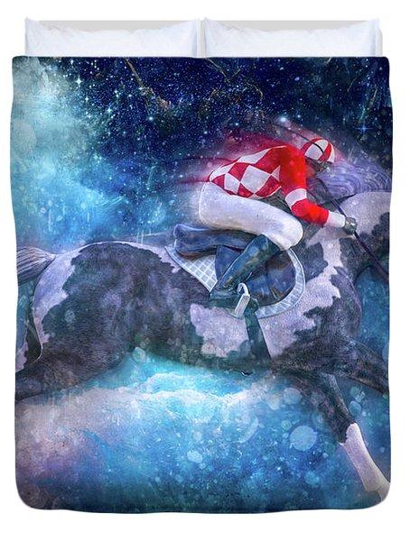 Merlin's Compass By Betsy Knapp Duvet Cover