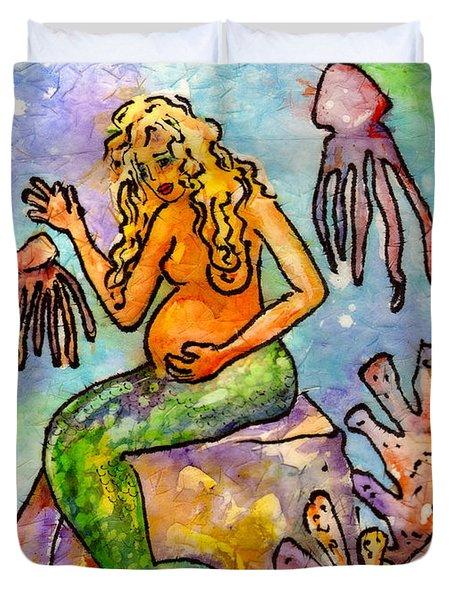 Mermaid Love Duvet Cover