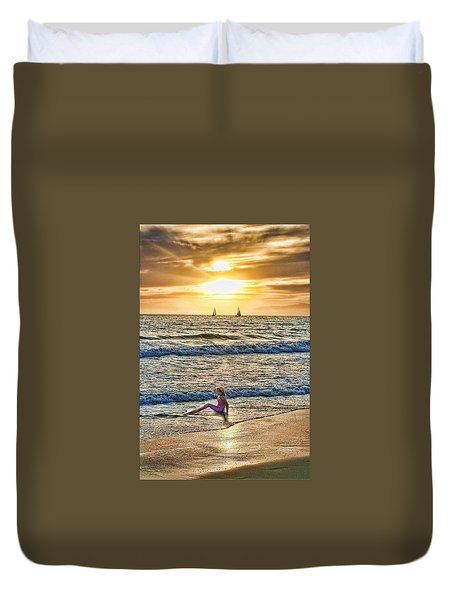 Duvet Cover featuring the photograph Mermaid Of Venice by Michael Cleere