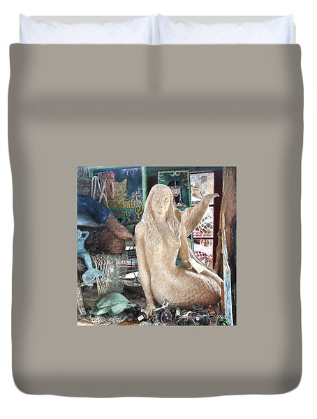 Mermaid Pondering Duvet Cover