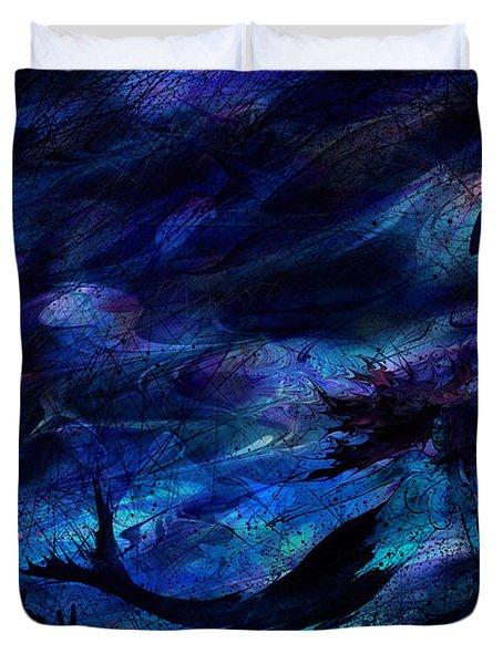 Mermaid Duvet Cover by Rachel Christine Nowicki