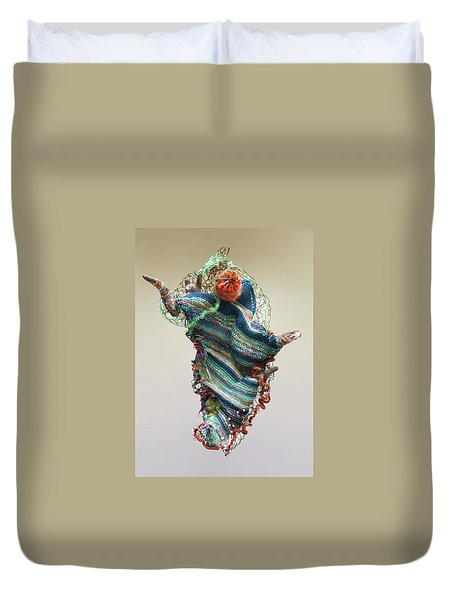 Mermaid Sculpture Duvet Cover
