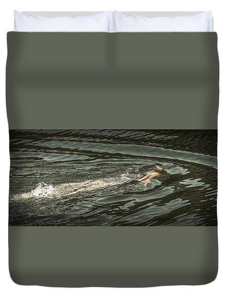Mermaid Swimming Duvet Cover
