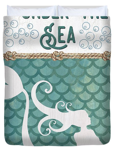 Mermaid Waves 2 Duvet Cover
