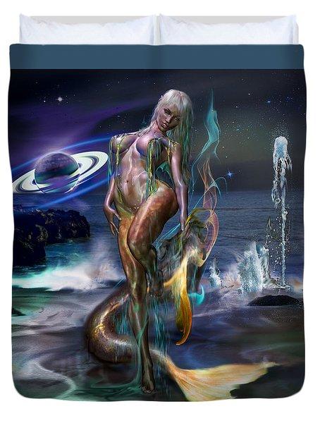 Mermaids Moon Light Duvet Cover