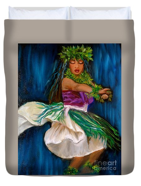 Merrie Monarch Hula Duvet Cover by Jenny Lee