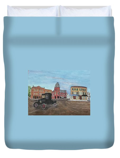 Old New England Town Duvet Cover