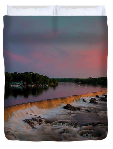 Merrimack River Falls Duvet Cover
