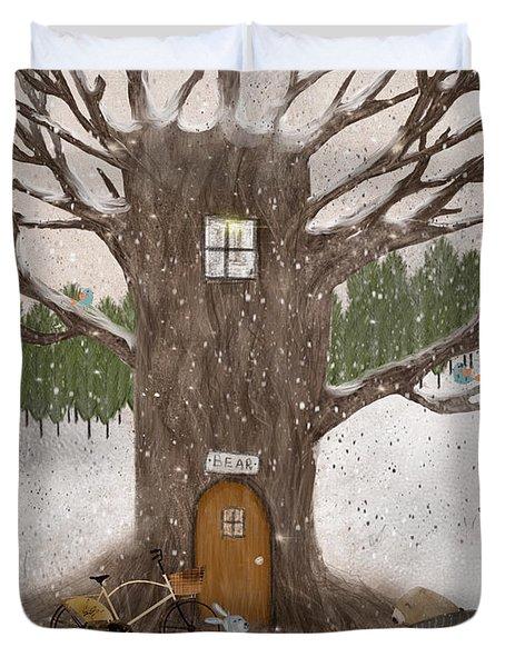 Merry Berry Wood Duvet Cover