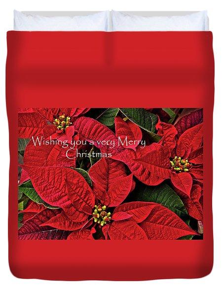 Merry Christmas Duvet Cover by Ann Bridges