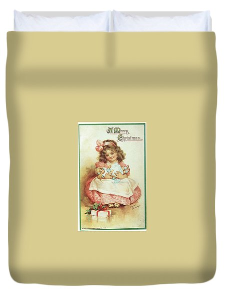 Merry Christmas For My Dolly Duvet Cover