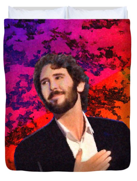 Merry Christmas Josh Groban Duvet Cover by Angela A Stanton