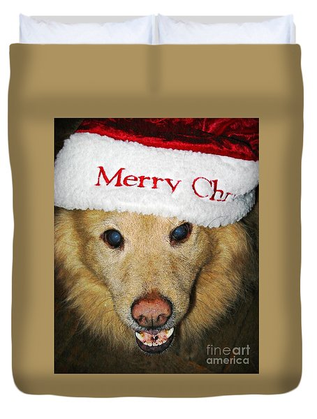 Merry Christmas Duvet Cover by Sarah Loft