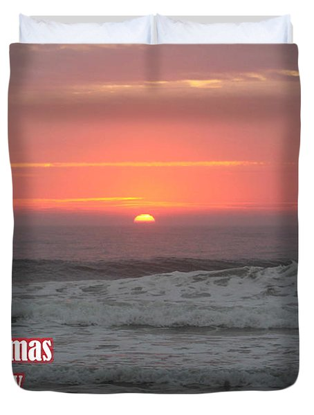 Merry Christmas Sunrise  Duvet Cover
