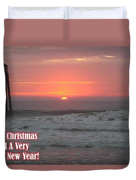 Merry Christmas Sunrise  Duvet Cover