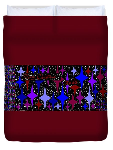 Merry Christmas To All, Starry, Starry Night Duvet Cover