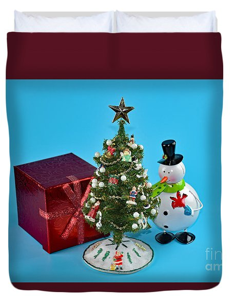 Merry Christmas To You Duvet Cover by Ray Shrewsberry