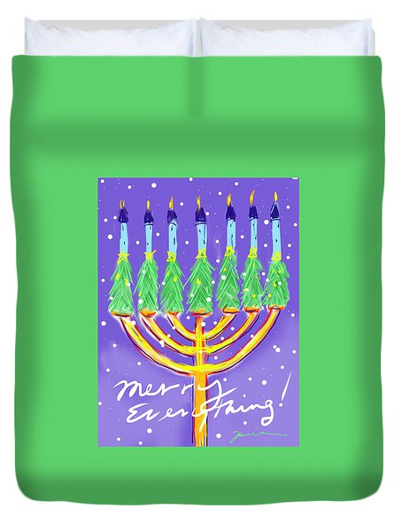 Merry Everything Duvet Cover