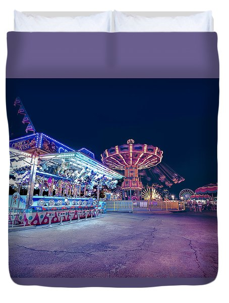 Merry Go Creepy Duvet Cover