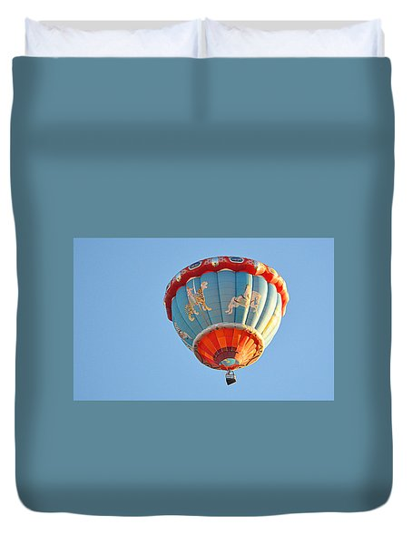 Duvet Cover featuring the photograph Merry Go Round by AJ Schibig