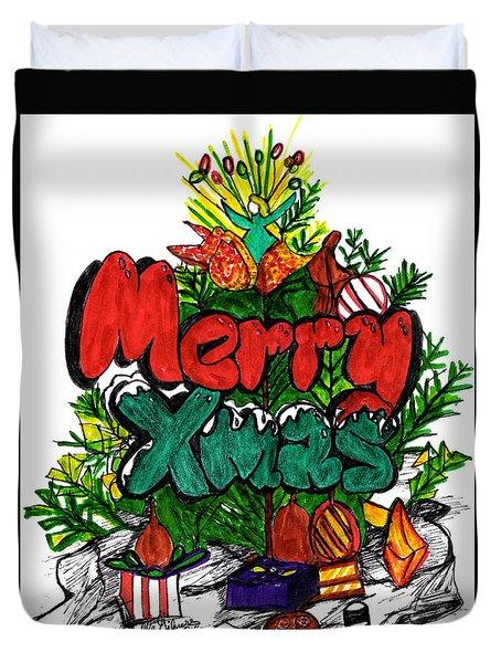 Merry Xmas Duvet Cover