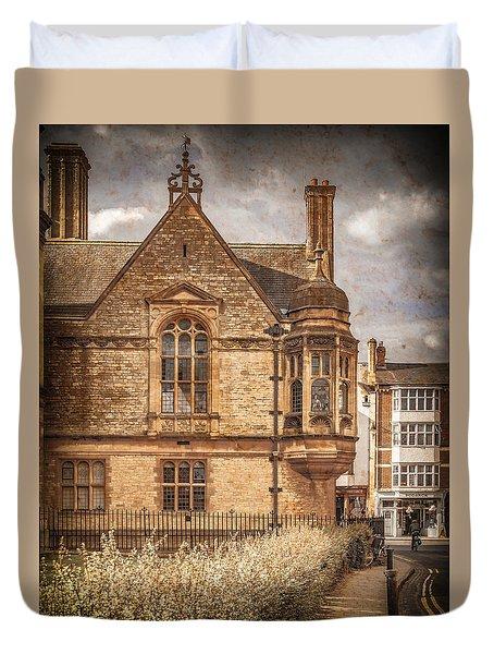 Oxford, England - Merton Street Duvet Cover