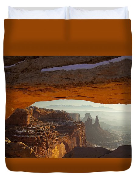 Mesa And Washer Woman Arches Duvet Cover