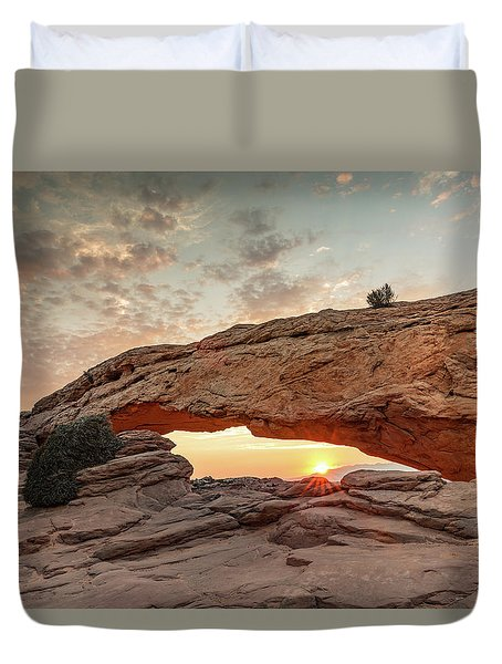 Mesa Arch At Sunrise Duvet Cover