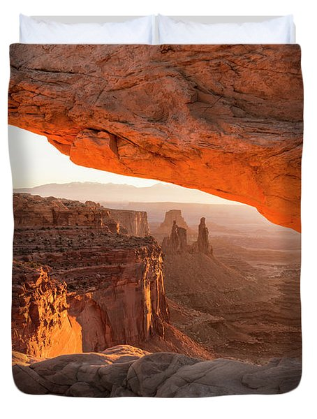 Mesa Arch Sunrise 5 - Canyonlands National Park - Moab Utah Duvet Cover by Brian Harig