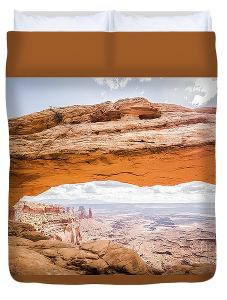 Mesa Arch Sunrise Duvet Cover by JR Photography
