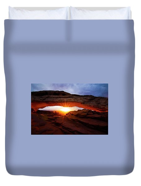 Mesa Arch Sunrise Duvet Cover