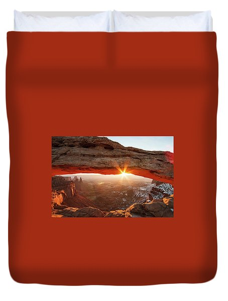 Duvet Cover featuring the photograph Mesa Arch by Wesley Aston