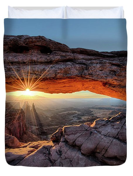 Mesa Arch Sunburst By Olena Art Duvet Cover