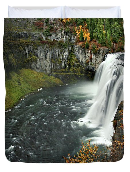 Duvet Cover featuring the photograph Mesa Falls by Wesley Aston