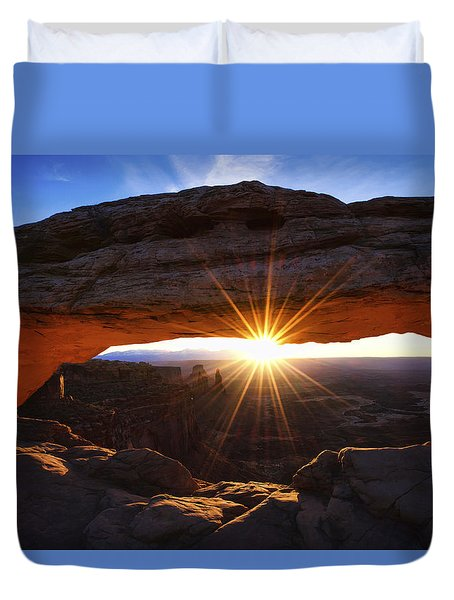 Mesa Sunrise Duvet Cover by Chad Dutson