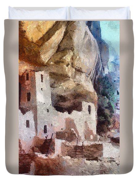 Mesa Verde Duvet Cover by Jeffrey Kolker