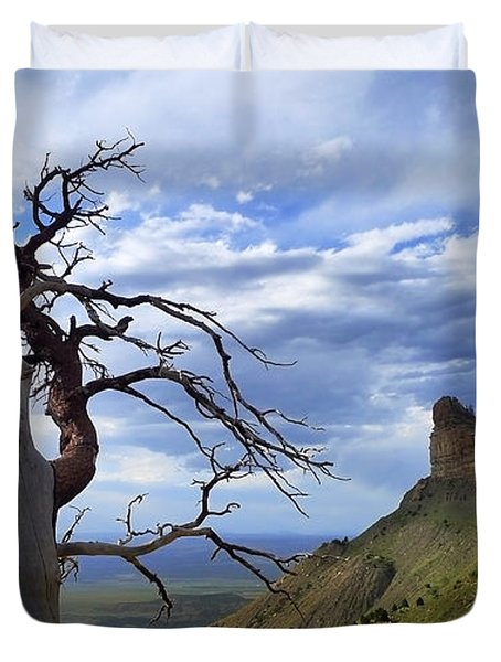 Duvet Cover featuring the photograph Mesa Verde Mood by Skip Hunt