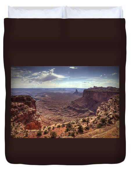 Mesas And Canyons Duvet Cover