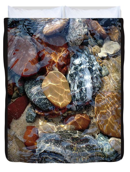 Mesmerized By The Creek Stones  Duvet Cover